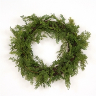 30' Artificial Cedar Wreath