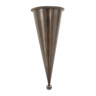 Container - Small Bronze Finish Metal Cone (Pack of 4; 50/cs)