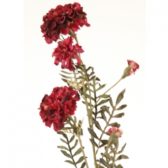 DIY Flower 27'L Burgundy Artificial Marigold Spray x 3 Blooms