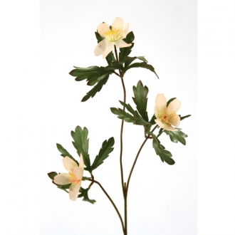 DIY Flower Artificial Peach Forest Anemone Stem Flower x 3 Blooms, 1'L Diameter