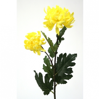 DIY Flower Yellow Mum Spray x 2