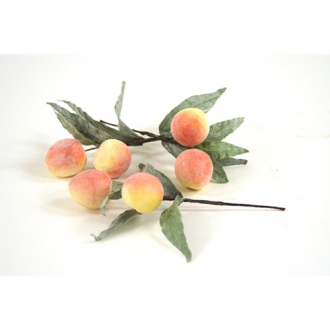 Fruit (Pack of 24) Peach Picks, Each with 2 Peaches and Leaves