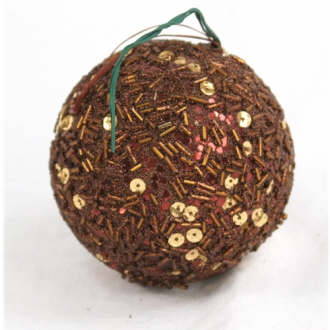 Ornament - 3' Brown Sequin Ball (Pack of 6; 24/cs)