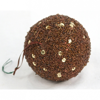 Ornament - 4' Brown Sequin Ball (Pack of 3; 24/cs)