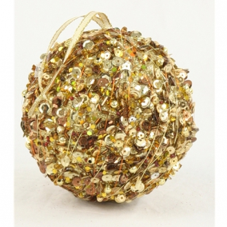 Ornament - 4' Gold Sequin Ball (Pack of 6; 24/cs)