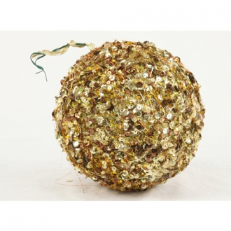 Ornament - 6' Gold-Bronze Sequin Ball (Pack of 2;24/cs)