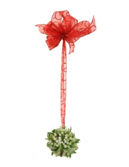 Ornament - 4' Artificial Mistletoe Ball with 201 Berries (Pack of 12; 144/cs)