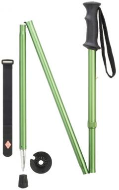 Backcountry hiker folding walking stick