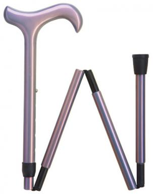Carbon Fiber derby cane with luminescent lavender finish