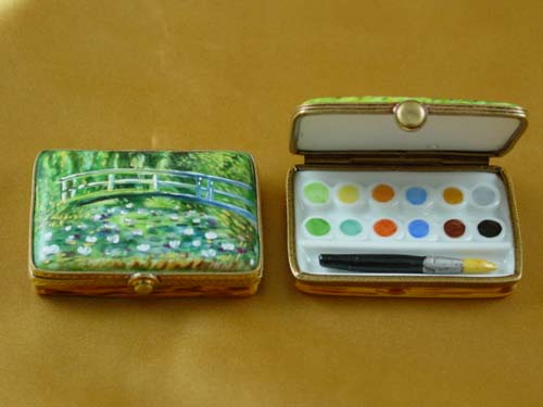 Monet's Japanese foot bridge paint box