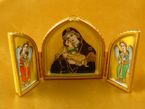 Triptych with Madonna and Jesus