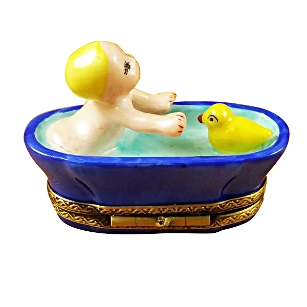 BABY IN TUB WITH DUCK