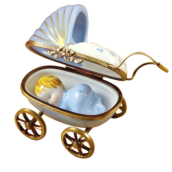 Blue baby carriage