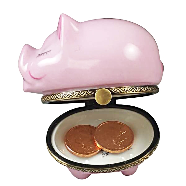 PIGGY BANK WITH SLOT WITH COINS