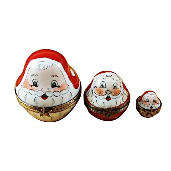 3 OLD WORLD STACKING SANTAS