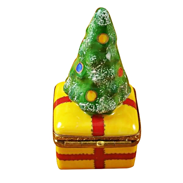 CHRISTMAS TREE ON YELLOW BASE