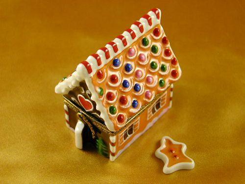 GINGERBREAD HOUSE W/GINGERMAN - Limoges Bo and Figurines ... on fudge box, ginger box, brownies box, cookie dough box, halloween box, gumbo box, rose box, church box, cupcake house box, biscotti box, pig roast box, candy box, text box, fireplace box, ornament box, icing box, panettone box, giveaway box, butterfly box, tiramisu box,