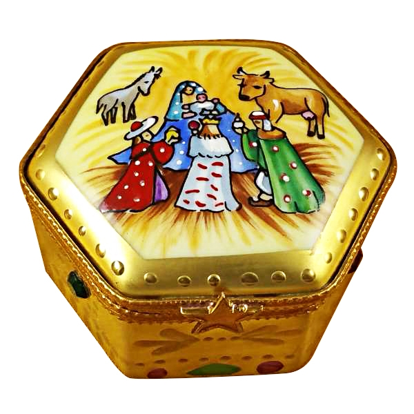 Octagon nativity w/star
