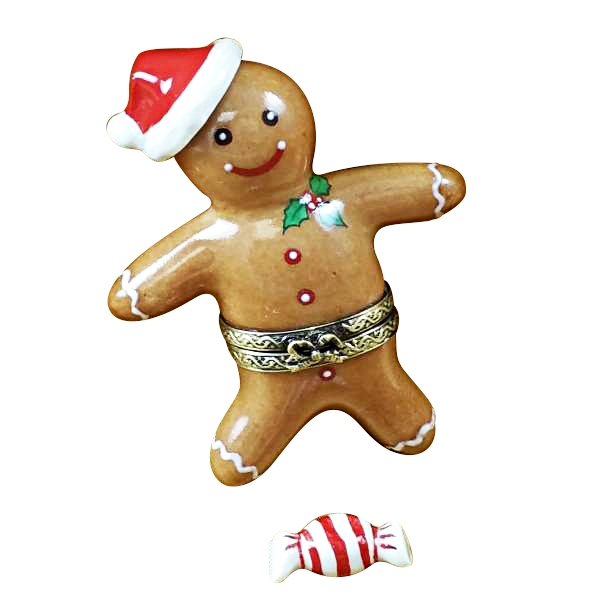 SANTA GINGERBREAD MAN W/ 3D AND PEPPERMINT CANDY