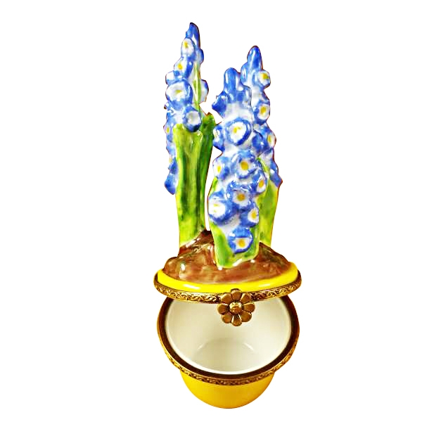 BLUE FLOWER /YELLOW POT