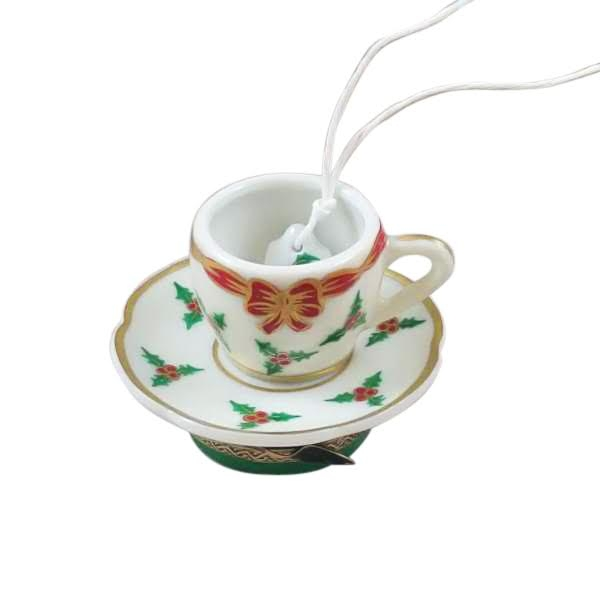 Christmas teacup with teabag