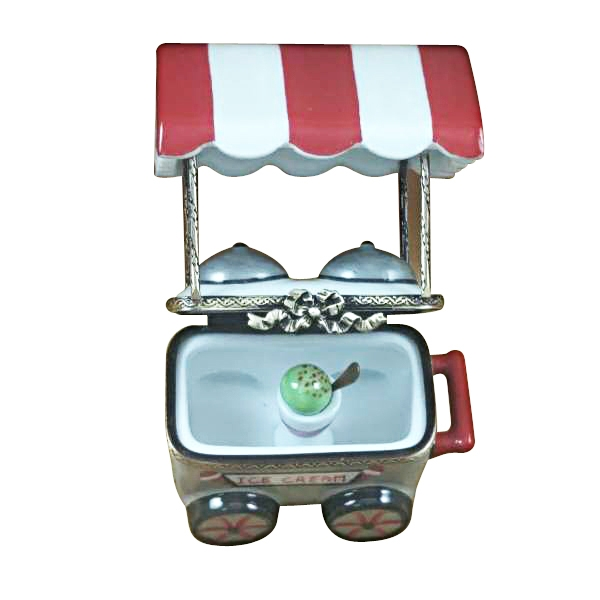 Ice Cream Cart with Removable Ice Cream Cup and Spoon