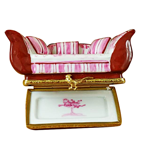 PINK TOILE SOFA W/ PILLOWS