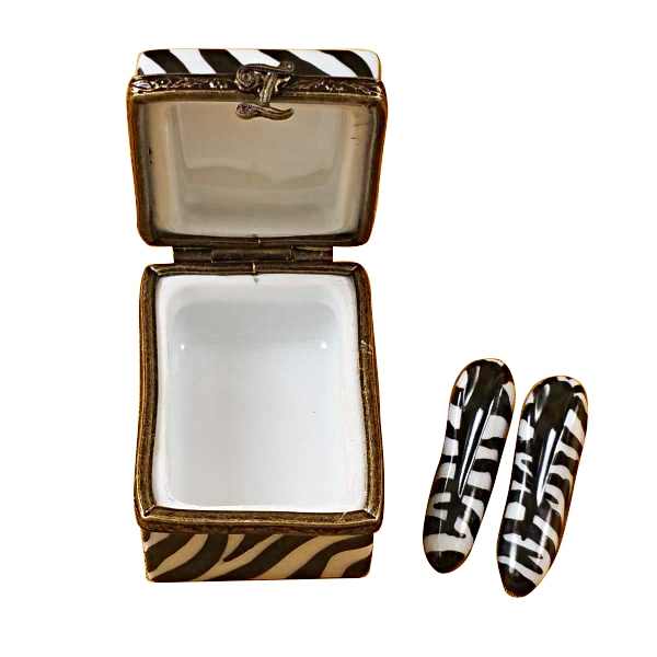 ZEBRA SHOE BOX W/ SHOES
