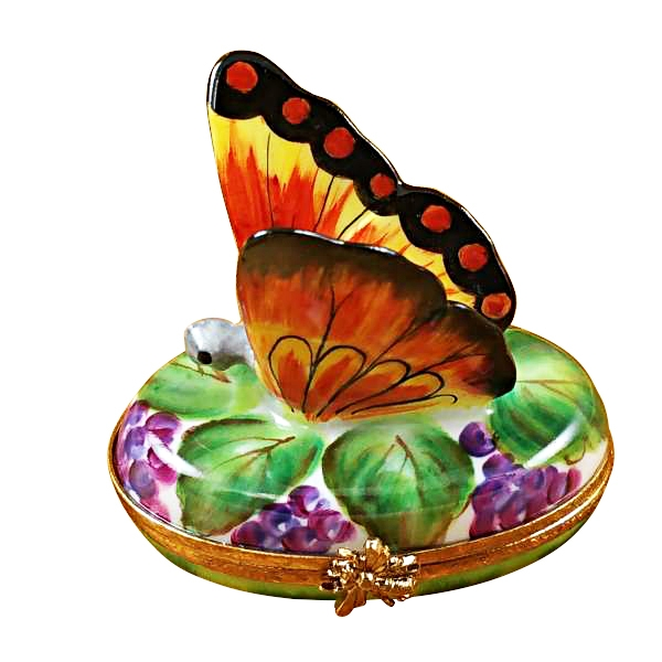 BUTTERFLY ON GRAPES