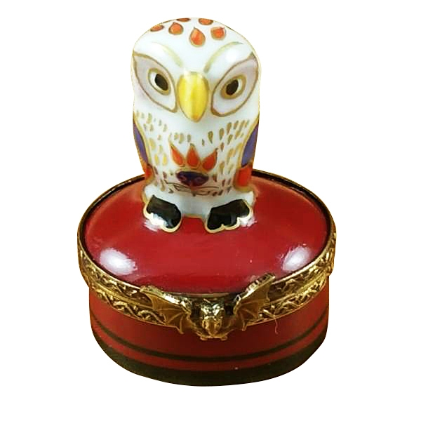 Little indian owl on small red box