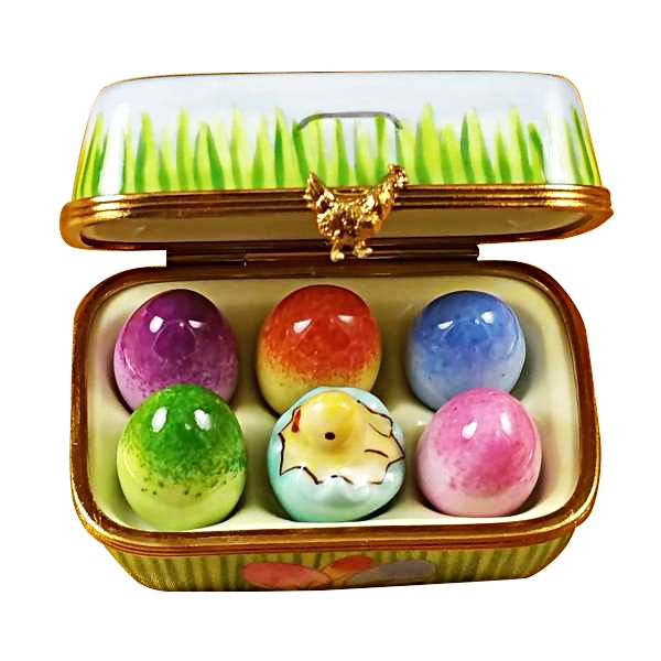 Easter egg box w/eggs