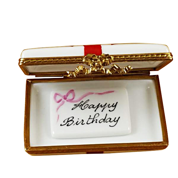 Gift box with red bow - Happy Birthday