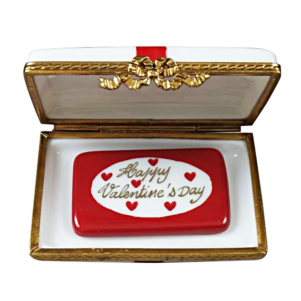 GIFT BOX WITH RED BOW - HAPPY VALENTINE'S DAY