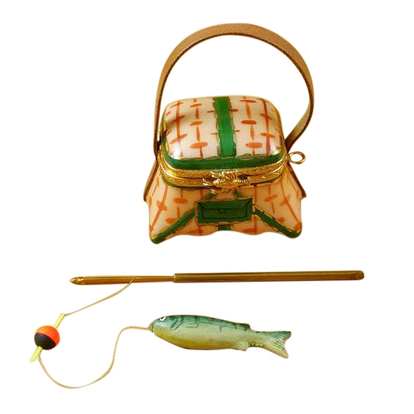 FISHING BASKET W/ROD