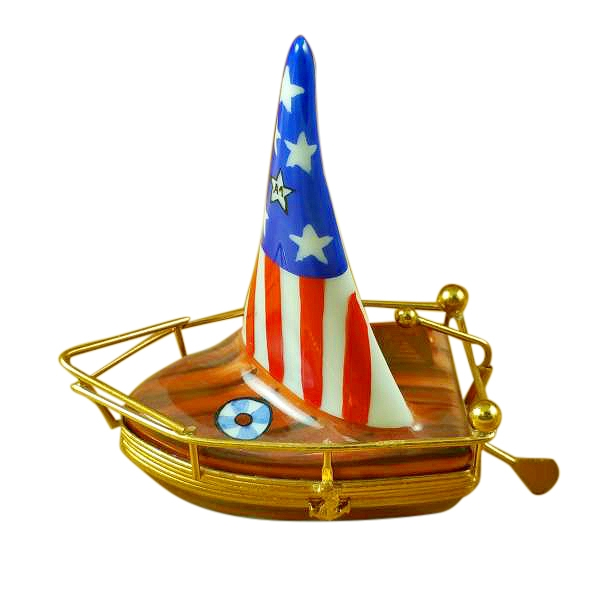 USA SAILBOAT WITH RUDDER