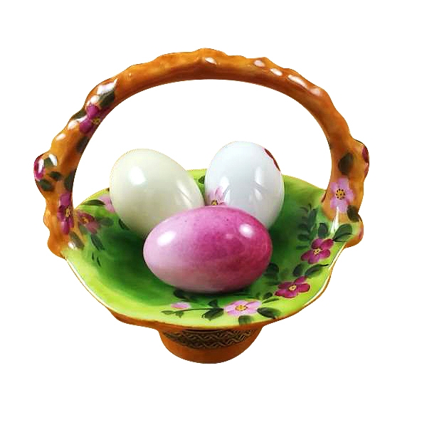 Basket of eggs floral