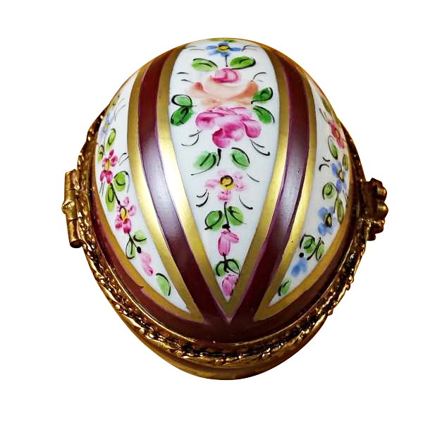BURGUNDY STRIPED EGG