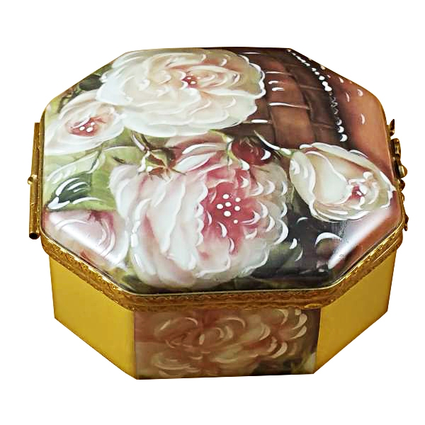 Octagonal white rose box - mother-girl