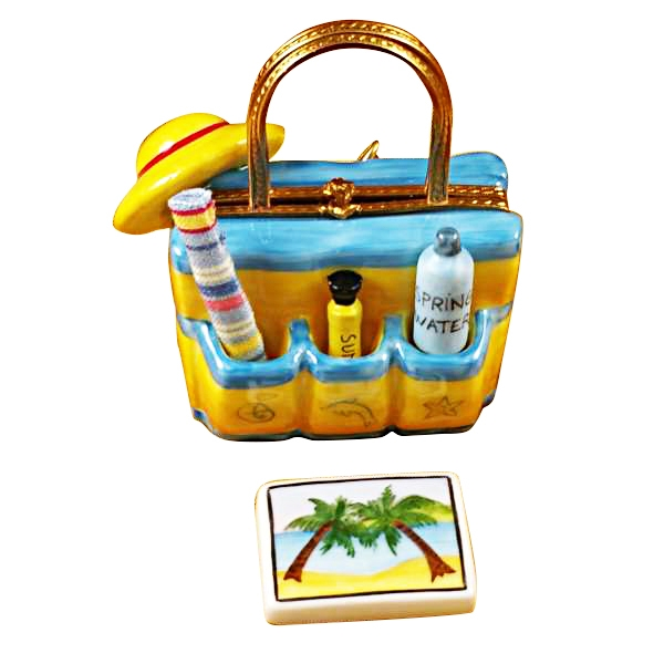 Beach tote w/hat & accesories
