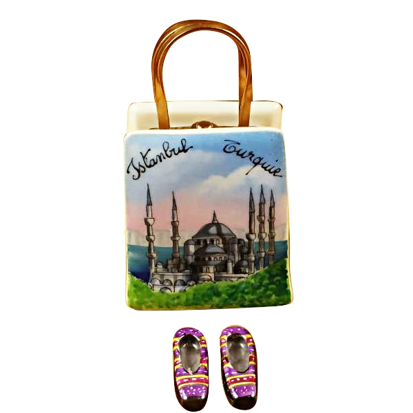 ISTANBUL TURKEY SHOPPING BAG WITH REMOVABLE TURKISH SLIPPERS