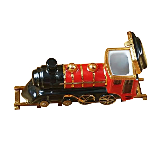 LOCOMOTIVE/TRAIN ON BRASS TRACK
