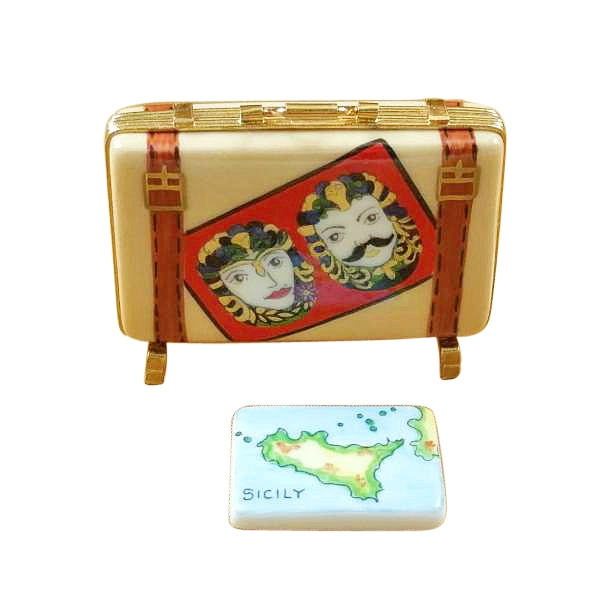 SICILY SUITCASE WITH REMOVABLE MAP