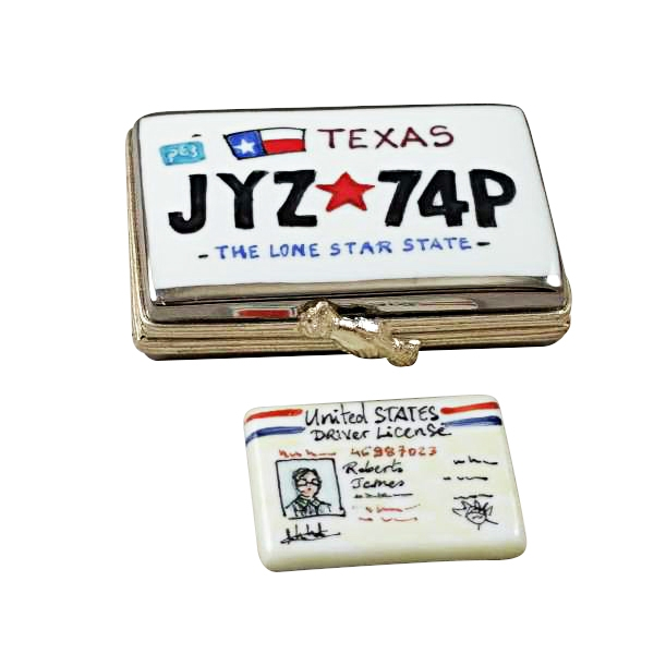 TEXAS LICENSE PLATE WITH REMOVABLE LICENSE