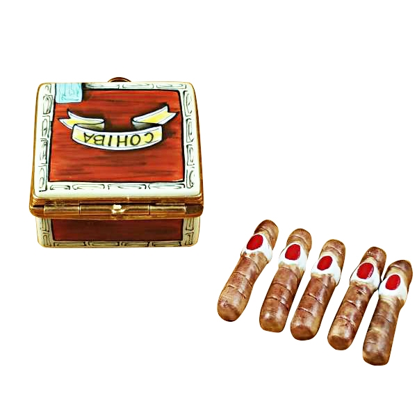 CIGAR BOX WITH REMOVABLE CIGARS