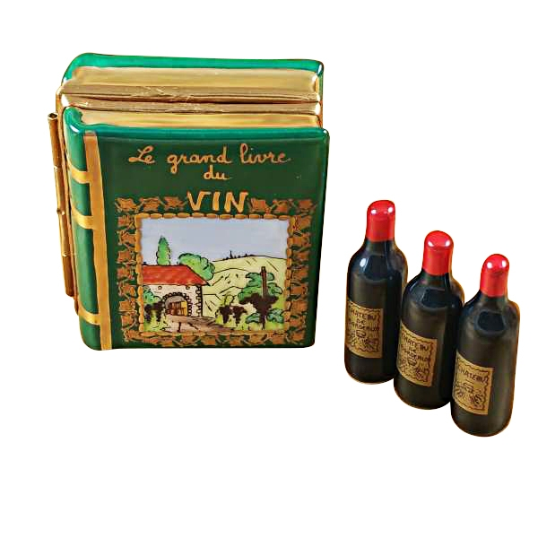 Wine book w/three bottles