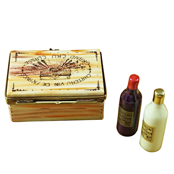 WINE CRATE W/2 BOTTLES