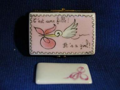 It's a Girl! Limoges Box
