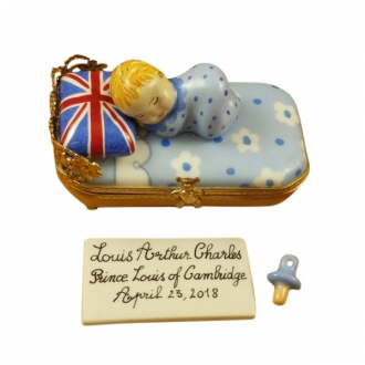 Prince Louis Of Cambridge Sleeping - Includes Plaque and Pacifier