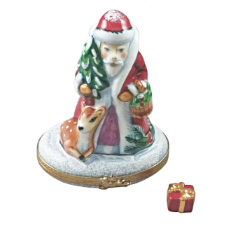 SANTA W/ REINDEER AND REMOVABLE GIFT