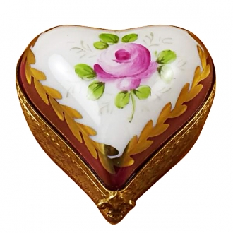 Burgundy heart w/flowers